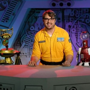 Crow T. Robot,  Jonah Ray and Tom Servo (from left)