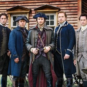 Ryan Eggold, Michael Raymond-James, Ben Barnes, Rafe Spall and Henry Thomas (from left)